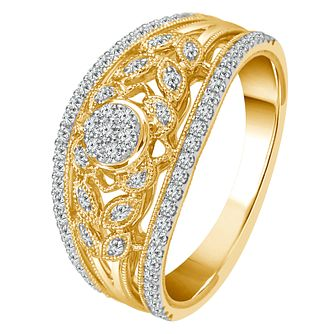 9ct Yellow Gold 2/5ct Diamond Wide Eternity Ring - Product number 4341902