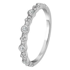 9ct White Gold Diamond Beaded Design Eternity Ring - Product number 4344278