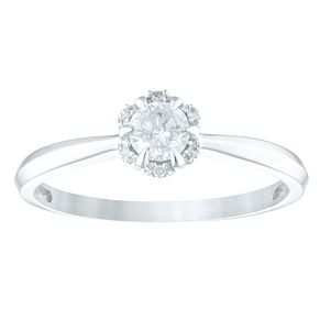 9ct White Gold 1/4ct Diamond Solitaire Ring - Product number 4355032