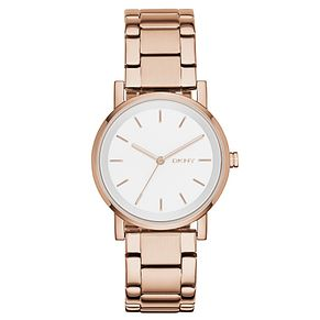 DKNY Soho Ladies' Rose Gold Tone Bracelet Watch - Product number 4355296