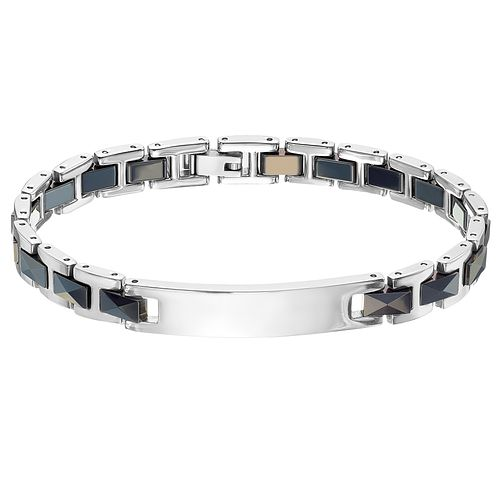 Stainless Steel Black Link ID Bracelet - Product number 4357426
