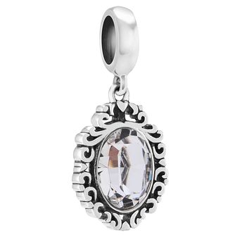 Chamilia Sterling Silver Swarovski Looking Glass Charm - Product number 4361172