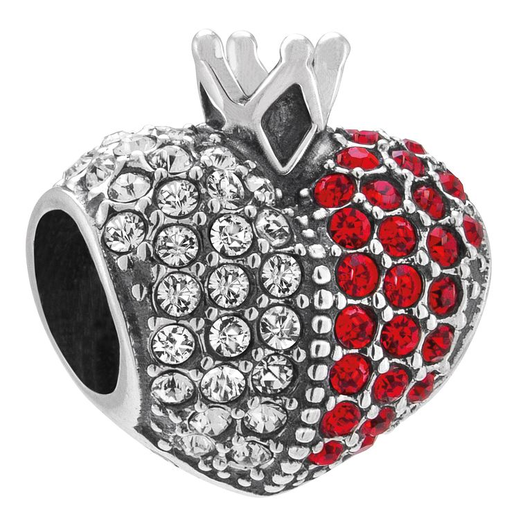 Chamilia Sterling Silver Queens Heart Swarovski Bead - Product number 4361865