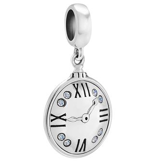 Chamilia Sterling Silver & Swarovski Pocket Watch Charm Bead - Product number 4364511