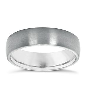 Men's Titanium 6mm Matt Ring - Product number 4368118