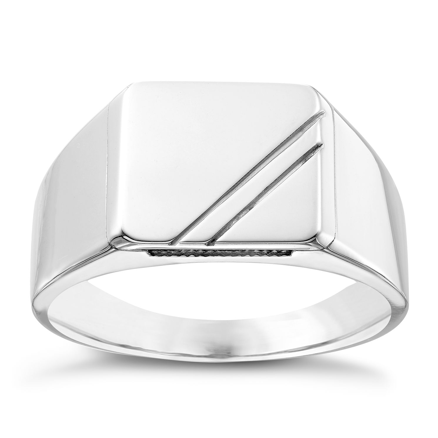 signet s ring sterling silver round en fashionology