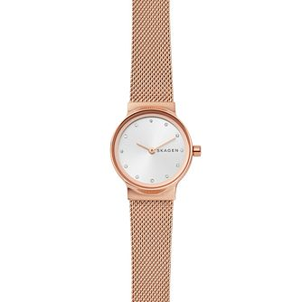 Skagen Freja Ladies' Rose Gold Tone Bracelet Watch - Product number 4372379
