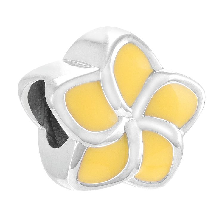 Chamilia Plumeria Sterling Silver & Yellow Enamel Bead - Product number 4373545