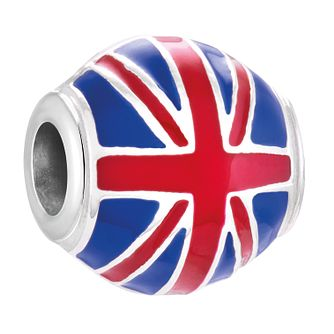 Chamilia Sterling Silver & Enamel Union Jack Bead - Product number 4376137