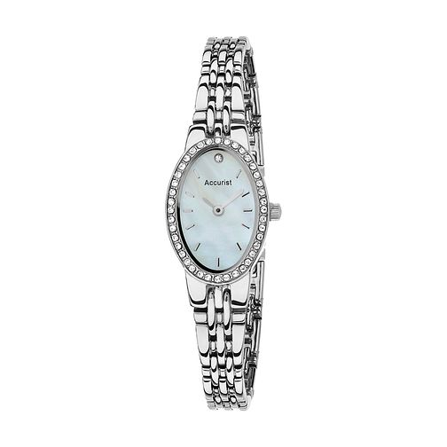 Accurist Ladies' Oval Dial Stainless Steel Bracelet Watch - Product number 4376293