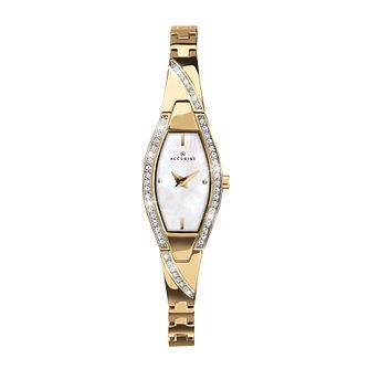 Accurist Ladies' Tonneu Dial Gold-Plated Bracelet Watch - Product number 4376307