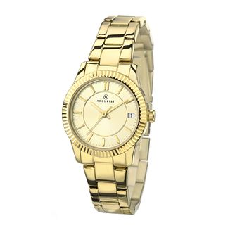 Accurist Ladies' Champagne Dial Gold-Plated Bracelet Watch - Product number 4376315