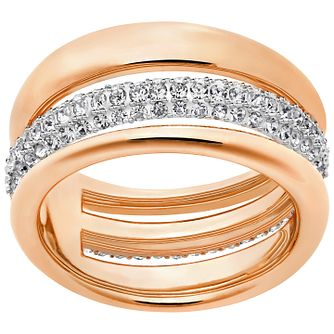 Swarovski Exact Rose Gold Plated Ring Size N - Product number 4379187