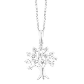Sterling Silver Diamond Tree of Life Design Pendant - Product number 4380738