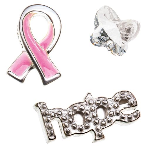 Chamilia Keepsake Memory Locket Pink Ribbon and Hope Charms - Product number 4382773