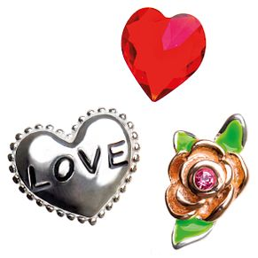 Chamilia Keepsake Memory Love and Rose Locket Charms - Product number 4382803