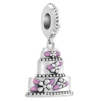 Chamilia Love Is Sweet Silver Wedding Cake Charm Bead - Product number 4383362