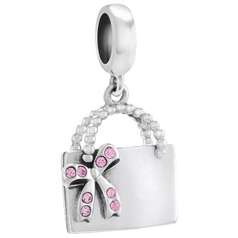 Chamilia Sterling Shopper Silver & Pink Swarovski Charm Bead - Product number 4383397