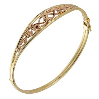Clogau 9ct Two-Colour Gold Tree of Life Bangle - Product number 4384717