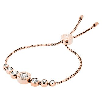 Michael Kors Logo Rose Gold Tone Crystal Bracelet - Product number 4385098