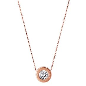 Michael Kors Logo Rose Gold Tone Crystal Necklace - Product number 4385136
