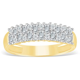 9ct Yellow Gold 1/2ct Diamond Eternity Ring - Product number 4391160
