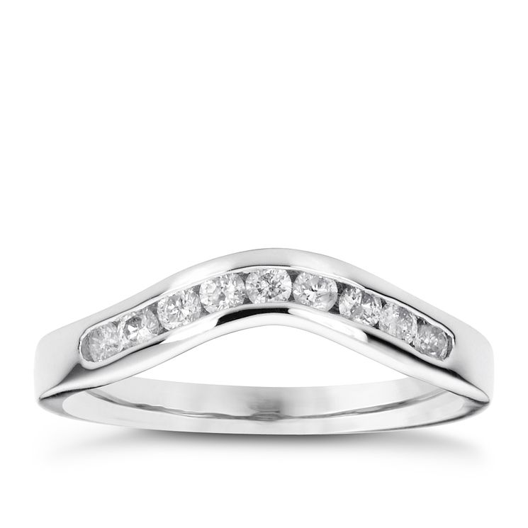 18ct white gold 0.25ct diamond wedding ring - Product number 4391845