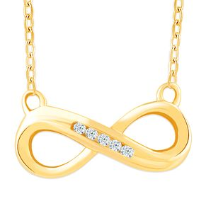 9ct Yellow Gold & Diamond Infinity Pendant - Product number 4393260