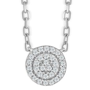 Sterling Silver Diamond Round Shaped Pendant - Product number 4393597