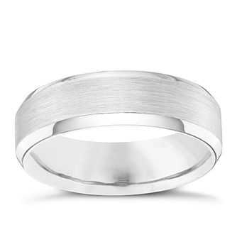 mens palladium 950 6mm bevelled edge band product number 4398084 - Palladium Wedding Rings