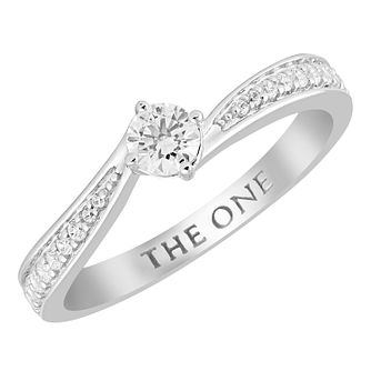 The One 9ct White Gold 1/3ct Diamond Solitaire Ring - Product number 4399722