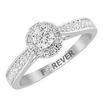 18ct White Gold 1/2ct Forever Diamond Solitaire Ring - Product number 4401468