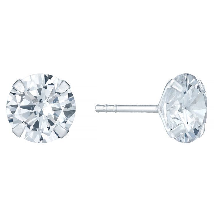 Sterling Silver 8mm Cubic Zirconia Stud Earrings - Product number 4402901