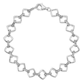 Sterling Silver 1/10ct Diamond Station Bracelet - Product number 4403606