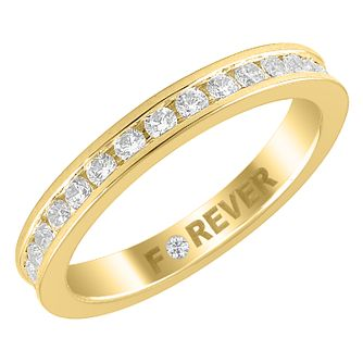 18ct Yellow Gold 0.58ct Forever Diamond Eternity Ring - Product number 4404327
