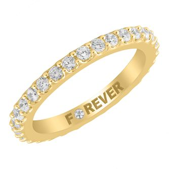 18ct Yellow Gold 0.58ct Forever Diamond Eternity Ring - Product number 4405730