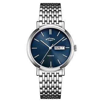 Rotary Windsor Men's Stainless Steel Bracelet Watch - Product number 4410130