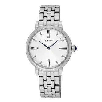 Seiko Ladies' White Dial Stainless Steel Bracelet Watch - Product number 4410459