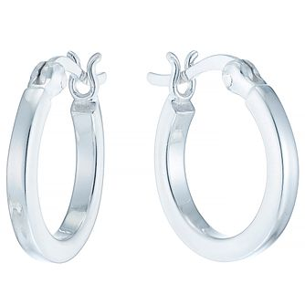 Sterling Silver Small Flat Creole Earrings - Product number 4410475