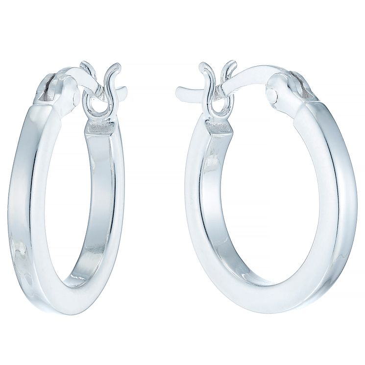 Sterling Silver Small Flat Hoop Earrings - Product number 4410475