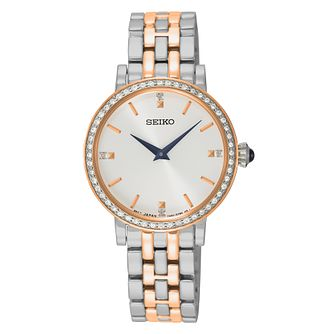 Seiko Ladies' Two Colour Stainless Steel Bracelet Watch - Product number 4410548