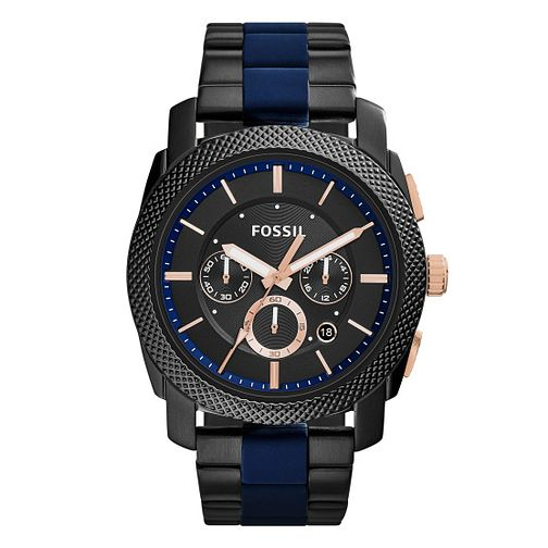 Fossil Machine Men's Ion Plated Bracelet Watch - Product number 4410572