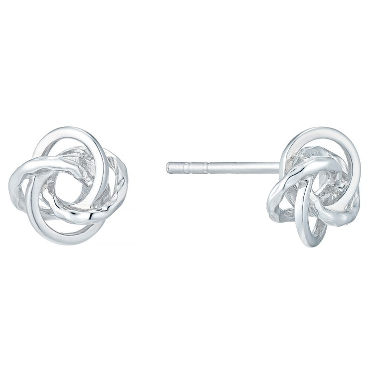 Sterling Silver Fancy Knot Stud Earrings - Product number 4410637