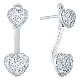 Sterling Silver Cubic Zirconia Ear Jackets - Product number 4410653