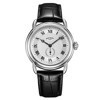 Rotary Canterbury Men's Black Leather Strap Watch - Product number 4411528