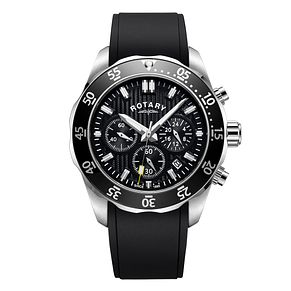 Rotary Men's Black Strap Chronograph Watch - Product number 4412931