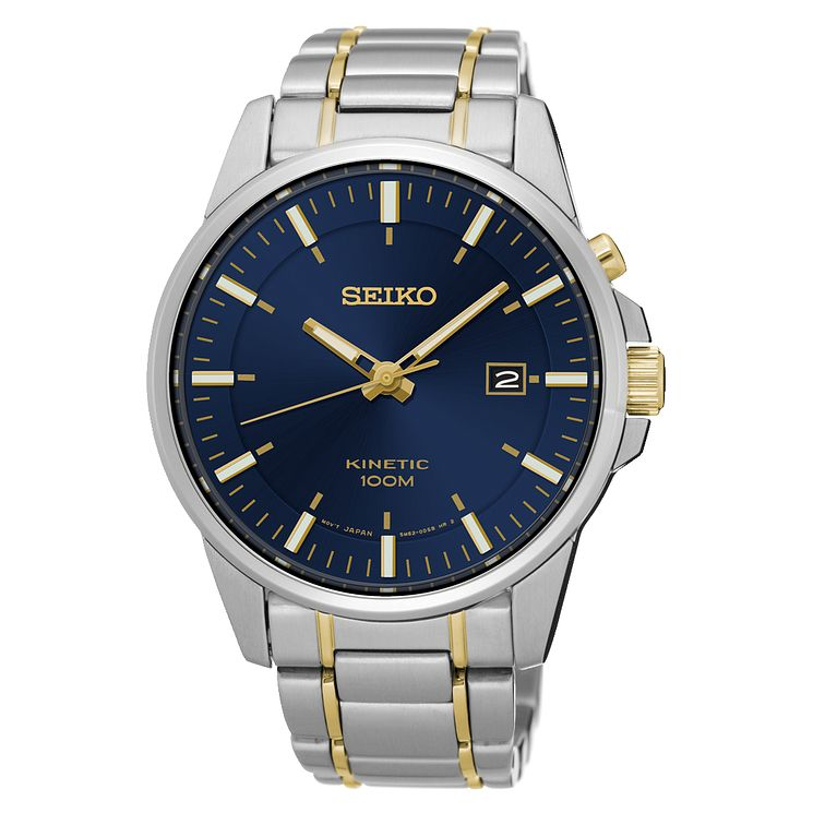 Seiko Kinetic Men's Two Colour Bracelet Watch - Product number 4413636