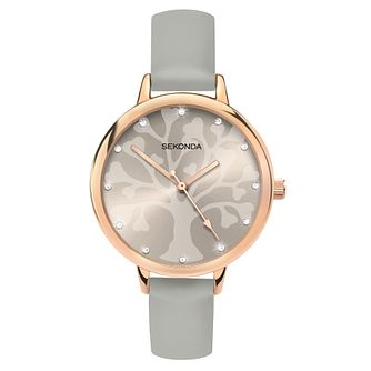 Sekonda Editions Ladies' Tree Of Life Design Grey Watch - Product number 4414373