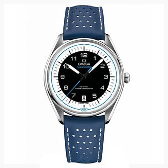 Omega Stainless Steel Seamaster Olympic Blue Strap Watch - Product number 4415647