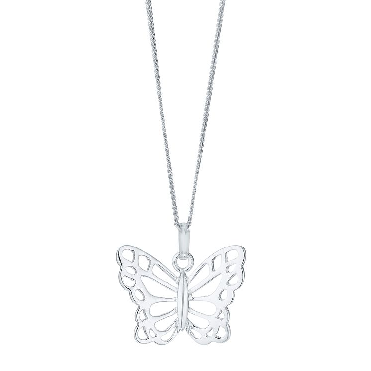 Sterling Silver Large Butterfly Pendant - Product number 4416287